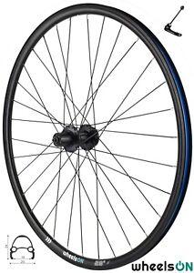 QR 700c wheelsON Rear Wheel Hybrid/MTB 8/9/10 speed Black 32H Disc Brake Black