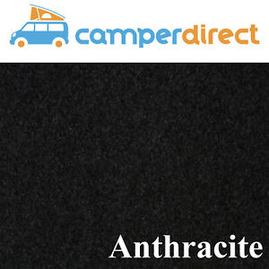 10 SqMtrs Anthracite Van Lining Carpet Kit 4 Way Stretch & 5 Tins HighTemp Spray