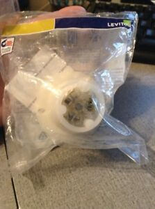 NEW Leviton 4715-C 15 Amp 125 Volt Flanged Outlet Locking Receptacle Industrial