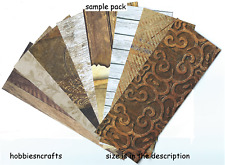 "WOOD EFFECT ASSORTED 200 GSM CARDSTOCK 6"" x 6"" SAMPLE PACK - 1 OF EACH DESIGN"