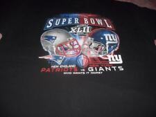 NFL Football Super Bowl New England Patriots New York Giants Adult Large T-Shirt