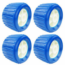 4PCS Boat Trailer Roller Marine Inflatable Boat Ribbed Wobble Roller Plastic