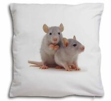 Silver Blue Rats Soft Velvet Feel Cushion Cover With Inner Pillow, RAT-1-CPW