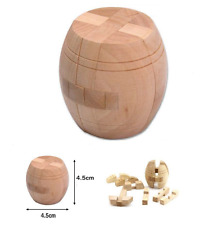 New IQ 3D Wooden Brain Teaser FREE SHIPPING Puzzle Game Toy for Adults GT