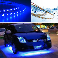 4pcs 10000K Blue LED Strip Under Car Underglow Underbody Neon Light Kit For Ford