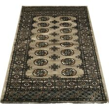 Bokhara Rug in Green - Original Hand Knotted Oriental Wool Rug 96x152cm -40% RRP