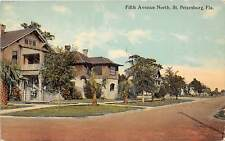 E48/ St Petersburg Florida Postcard c1910 Fifth Avenue North Homes