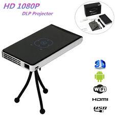Mini Pocket Projector Wifi Bluetooth Speakers HD DLP LED 1080P Android USB/TF