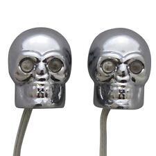 Cráneos de Miedo Azules Led Eyes Decoración Del Coche Luces Interiores 12V