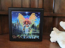 Mystic Fairy in Forest  ART TILE TRINKET JEWLERY ALTAR STASH BOX STEVE ROBERTS