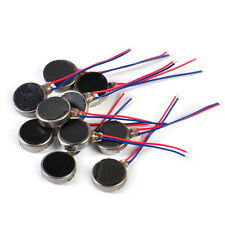 10x Coin Flat Vibrating Micro Motor DC 3V Fit For Pager Cellphone Mobile Phone