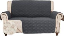 Anti-Slip Loveseat Cover Couch Slipcover for Leather Sofa Furniture Protector