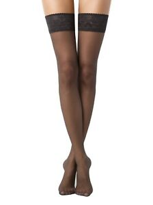 Conte STOCKINGS Class 12 Den | Ultra Thin Stay Ups with Elastic Decorative Top