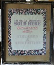 "Winchester Western ""Firearms and Ammunition Sold Here"" Poster From Retail Store"