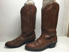 VTG MENS ACME COWBOY BROWN BOOTS SIZE 8.5 D