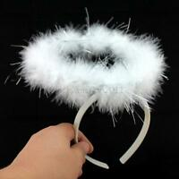 For Children Adults Feather Halo Headband Angel Fairy Dance Dress Party Costume