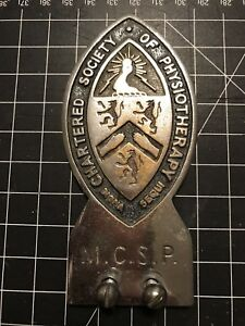 Chartered Society Of Physiotherapy Car Badge