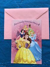 Disney Princess Greeting 4th Birthday Card 4 Year Old Hallmark New