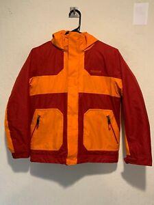 Marmot Boy's Insulated Ski Snow Waterproof Hooded Jacket Size LARGE Orange