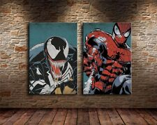 HD Print Home Wall Art Deco Oil Painting on Canvas:Spiderman and Venom/Unframed