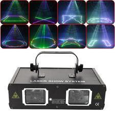 Bühnenbeleuchtung RGB Laserprojektor Disco Party Club DJ Licht DMX 2 große Linse