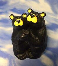 "Adorable 5"" Bearfoots Jeff Fleming ""Bearfoot Swing"" Black Bears Dancing Figurine"
