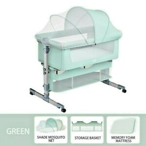 Newborn Baby Fordable Crib Convertible Bassinet Nursery Kid *Cradles Toddler