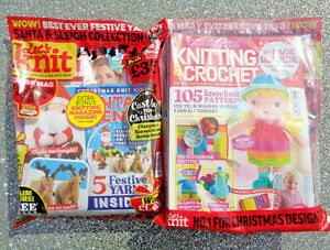 LETS KNIT MAGAZINE ISSUE #176 ~ XMAS 2021 WITH EXTRA MAG ~ NEW SEALED PACK ~