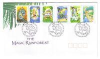 "2002 FDC Australia. Magic Rainforest. PictPMK ""BUNYIP"""