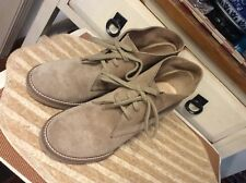 J Crew Tan Suede Leather Ankle Boots Heels Lace Up Womens Size 7, Made in Italy