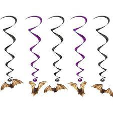 5 HALLOWEEN VAMPIRE BAT HANGING PARTY DECORATIONS HORROR SWIRLS BATS WHIRLS