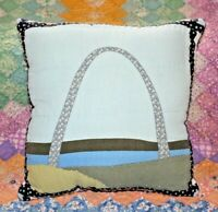 Throw Pillow Made From Gateway Arch Saint Louis Landmark Quilt Block