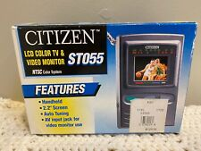 Vintage Citizen ST055-IA 2.2 LCD Television Handheld Mini TV Screen W/box As-is