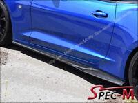 2016-2018 Camaro SS V8 Carbon Fiber Side Skirts Rocker Extend Lip JPM R1 CF