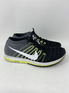 Nike Zoom Flyknit Streak Black Volt Grey 835994-001 Running Shoe Sz 7