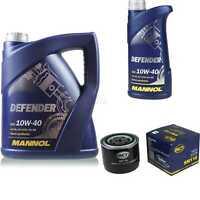 Ölwechsel Set 6L MANNOL Defender 10W-40 Motoröl + SCT Filter KIT 10141709