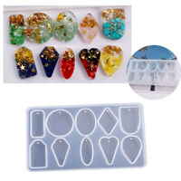Silicone Earring Necklace Pendant Mold for DIY Epoxy Resin Jewelry Making Tool