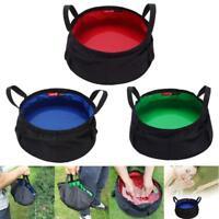 8.5L Portable Cordura Collapsible Outdoor Wash Camping Folding Basin Bucket Camp