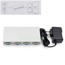 1 in 4 out 4 Port VGA Video Splitter Amplifier Sharing Box for LCD TV PC Monitor