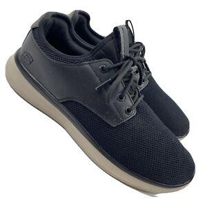 Skechers Mens Sz 11 Classic Fit Air Cooled Memory Foam SN66272 Black Shoes  LR89