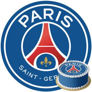 Disque Azyme Logo PSG Football Club personnalisable 20 cm décoration gâteau