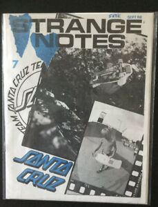 Santa Cruz Strange Notes Skateboard Zine Magazine September 1988