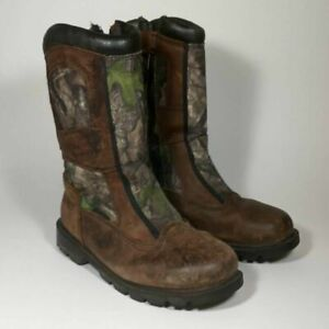 Red Head Brand Co. Unisex Kids Hunting Boots Brown Camouflage Waterproof 5 M