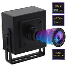 5MP Aptina MI5100 CMOS 100 Degree No Distortion Lens 30fps Mini Box USB Camera