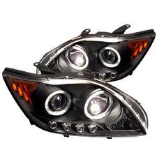 Scion 05-07 tC Black Dual Halo LED Projector Headlights w/ Amber Signal Lamp