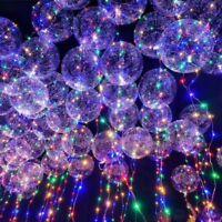 Luminous LED Balloon Bubble Helium Balloons Lights Wedding Party Decoration Hot