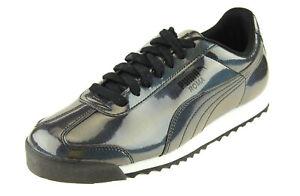 Puma Men's Roma AO Iridescent Fashion Sneakers, Black