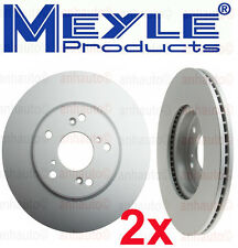 Set of 2 Meyle GEOMET®Anti Rust Coated Front Brake Rotors Accord V6 13-14