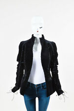 Haider Ackermann NWT $3675 Black & Green Velvet Lace Up Jacket SZ 42