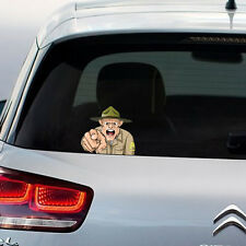 Military Army Man on Board Car Sticker Graphic Vinyl Decal Gift New Home Decor